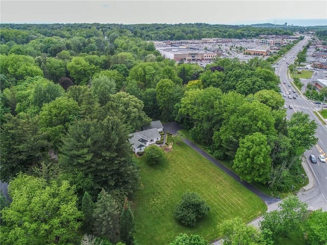 Perfect Pittsford Location.  Private 1.8 acres