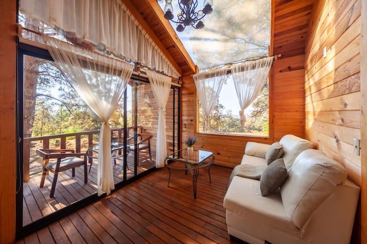 Hermosa y cómoda cabaña c/Jacuzzi ideal parejas 33