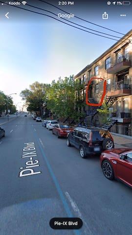 Sunny apartment Pie-IX , close to highway & shops