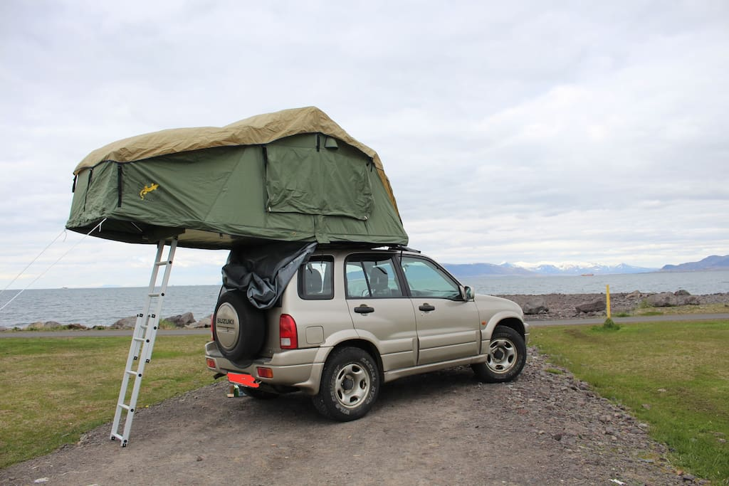 shareiceland 4wd with rooftent and gear camping cars caravanes louer reykjavik r gion. Black Bedroom Furniture Sets. Home Design Ideas