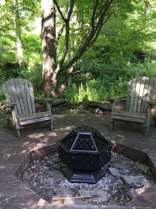 The fire pit area is one of the most special locations near the brooke.