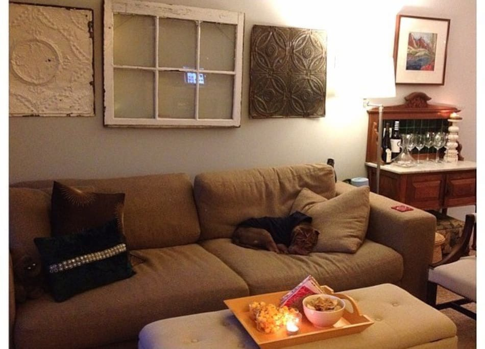 Living room (adorable napping dog not included).