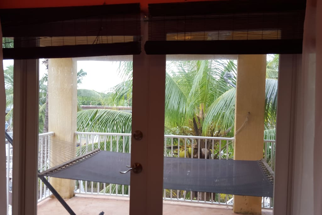 Lots of privacy from the balcony of the master bedroom & living room with the tropical landscape.