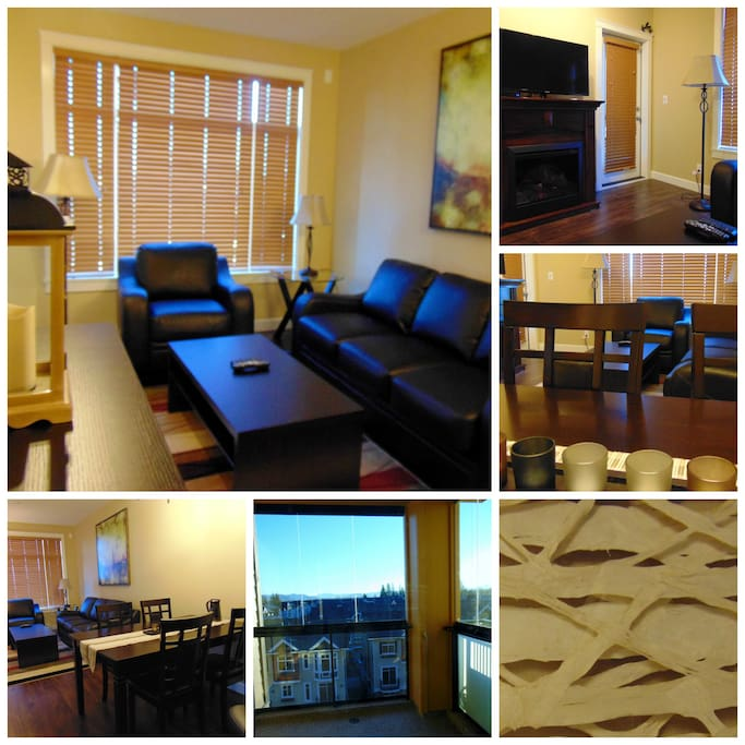 Very bright unit with large front window. Electric fireplace, tv, sofa bed, air conditioned. Enclosed Solarium off living area.