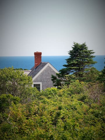 Cozy Cottage with Big Ocean View - New Shoreham - Casa