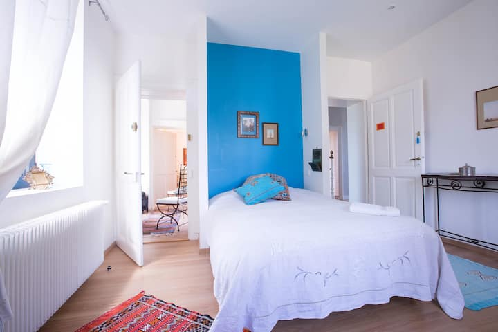 "Chambre double turquoise  ""Maroc"""
