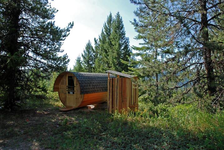 Barrel Cabins on Organic Farm #1
