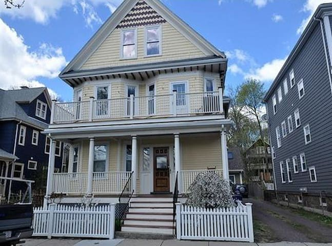 You are renting the first floor of this classic JP folk victorian home.