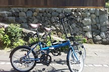 New 6 speed bicycles for rent - 500 yen for a day for one.