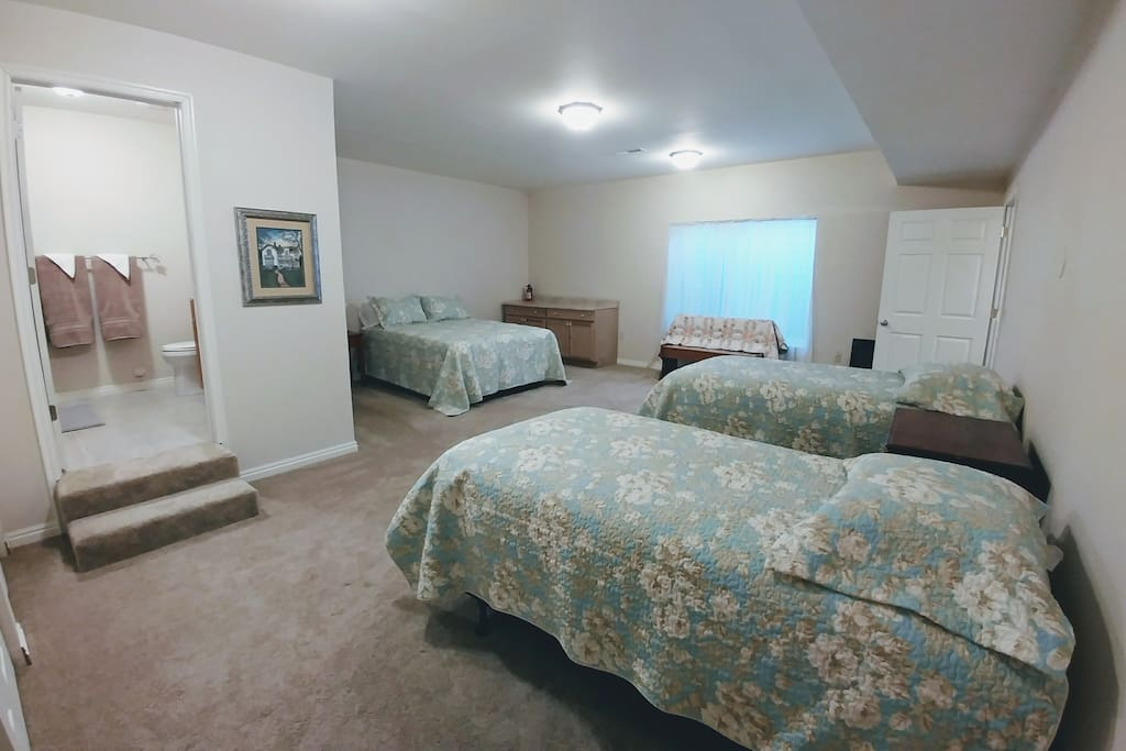 Large bedroom with private bath