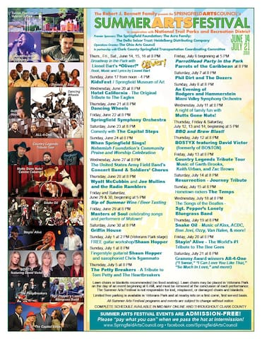 Free entertainment under the stars, just a couple of minutes down the road in Veterans Park! June 14-July 21