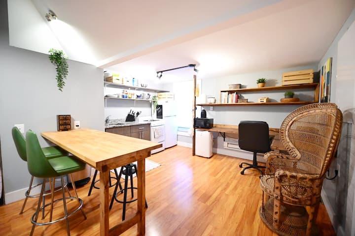 Super Cozy Studio - Vaulted Ceilings