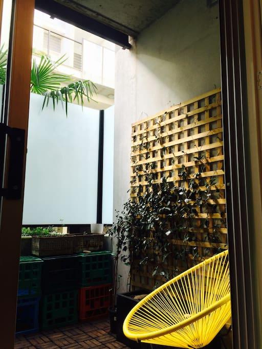 Small garden  ground floor balcony
