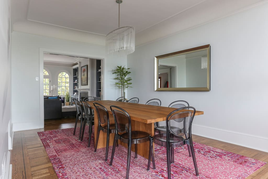 Dining room can easily accommodate 10