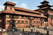 Patan museum on Durbar Square, from far the best of  museum of Nepal
