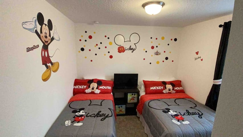 Mickey Mouse room.