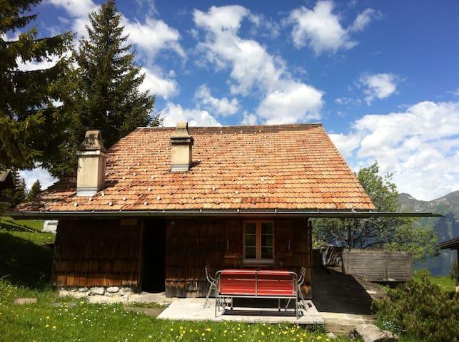 Gemütliche, rustikale Alphütte - Brienz - Almhütte