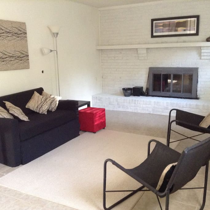 Your 2-bedroom apt features living room with working fire place