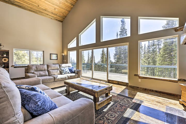 NEW! Fairplay Retreat w/ Hot Tub & Forest Views!