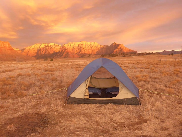 Zion Camping Rental - To Go Package Tent & Kitchen