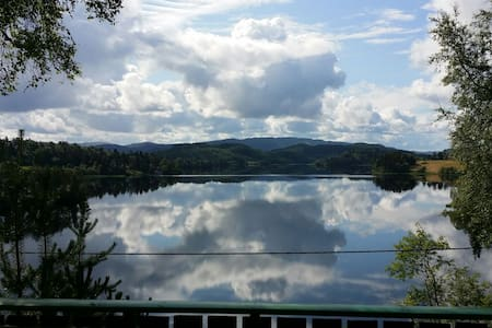 Idyllic log cabin at Jonsvatnet - Trondheim - Kulübe