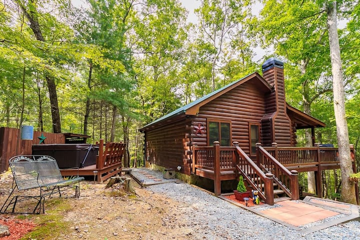 Knotty Pines Cabin Rental in Cherry Log, Ga. Minutes from Downtown Blue Ridge   2 Bedroom, 1 Bathroom
