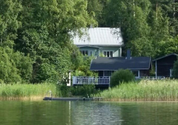 Rantamökki ja rintamamiestalo relax - Hollola - Hus
