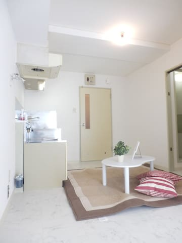 4.Cozy 1LDK for 2~3 +Free Internet! - Sapporo-shi - Apartment