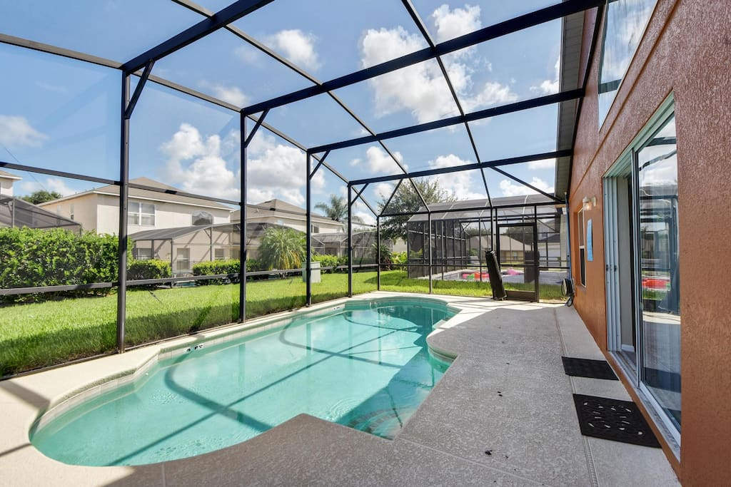 Your family is going to make hundreds of magical memories by this crystal clear pool and deck. They won't want to wait to get back from the Orlando theme parks and into this sparkling pool in the afternoons!