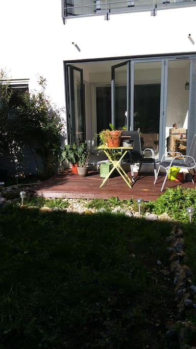 La terrasse pour prendre l'apéro !
