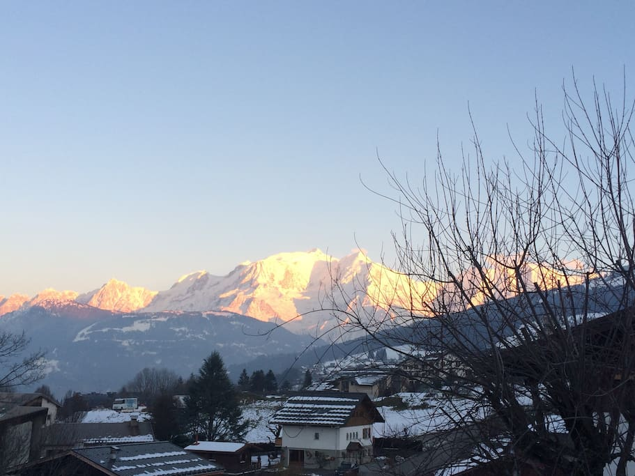 Fantastic view from the apartment of Mont Blanc