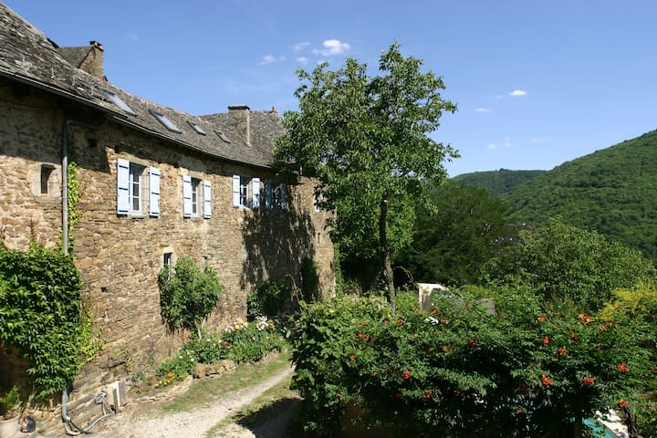 Manor East Wing. Aveyron-Cantal. - Vieillevie - House