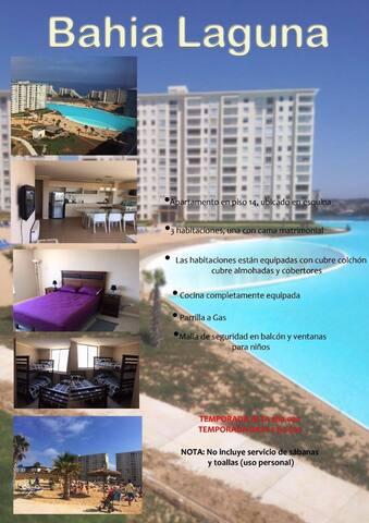 Alquilo Depto en Laguna Bahía piso 14 - Algarrobo