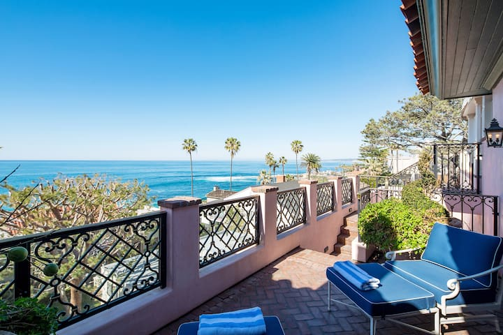 Opulent Gatsby Style Home One Block from the Ocean