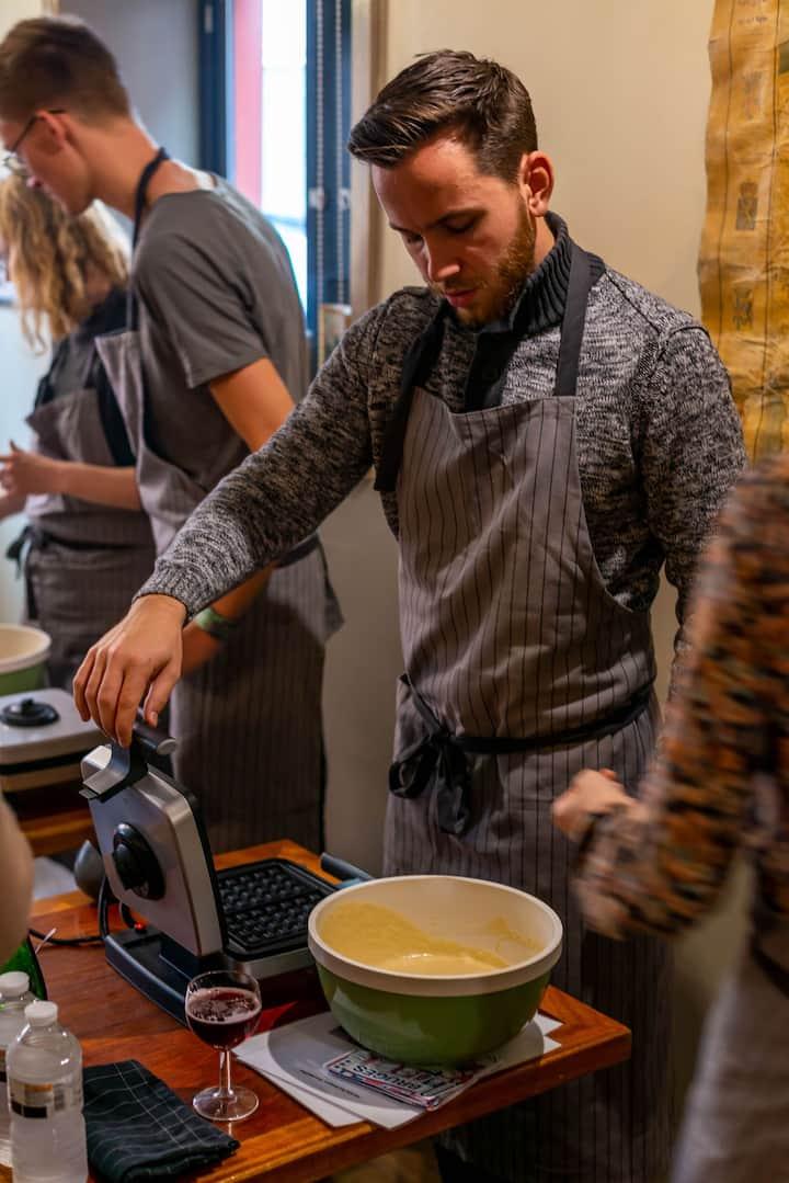 Baking your own Belgian Waffles