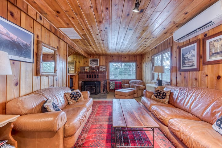 Cozy pine interior home in the heart of Government Camp!