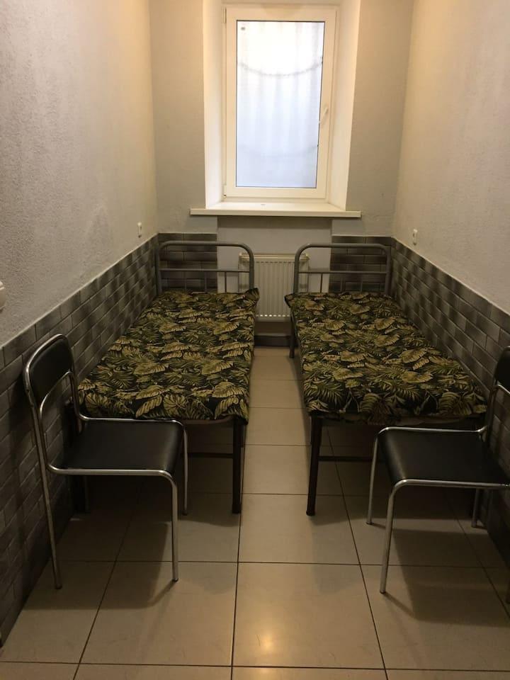 Двухместный номер в хостеле Прибой