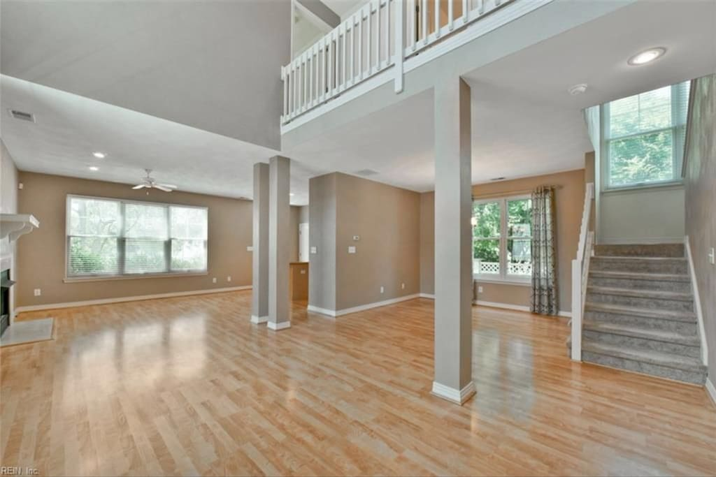 Open floor plan with high ceilings.  Will be fully furnished upon arrival.