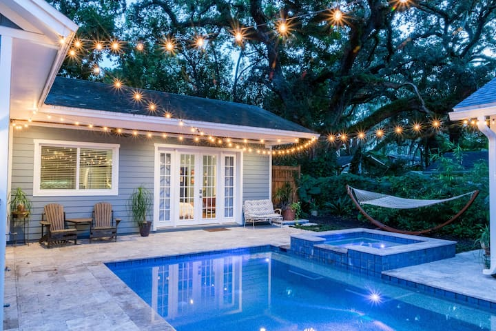 ✨Eco-Friendly Backyard Bungalow+ POOL+CLOSE TO ALL