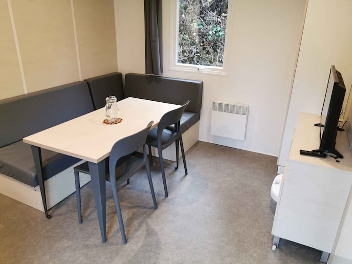 Mobil-home 2 chambres en camping