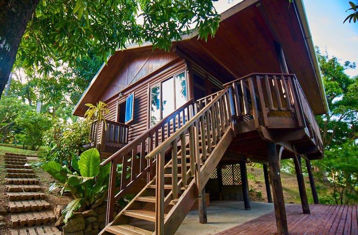 Tobago rainforest cottage: private beach,waterfall