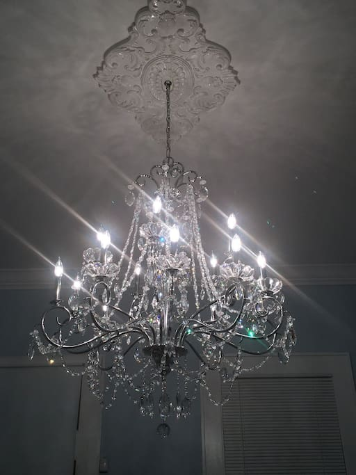 beautiful chandelier in front entry