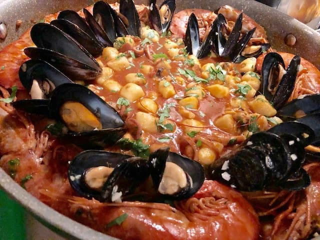 Particolare di un piatto di pesce realizzato dalla nostra Chef Roberta