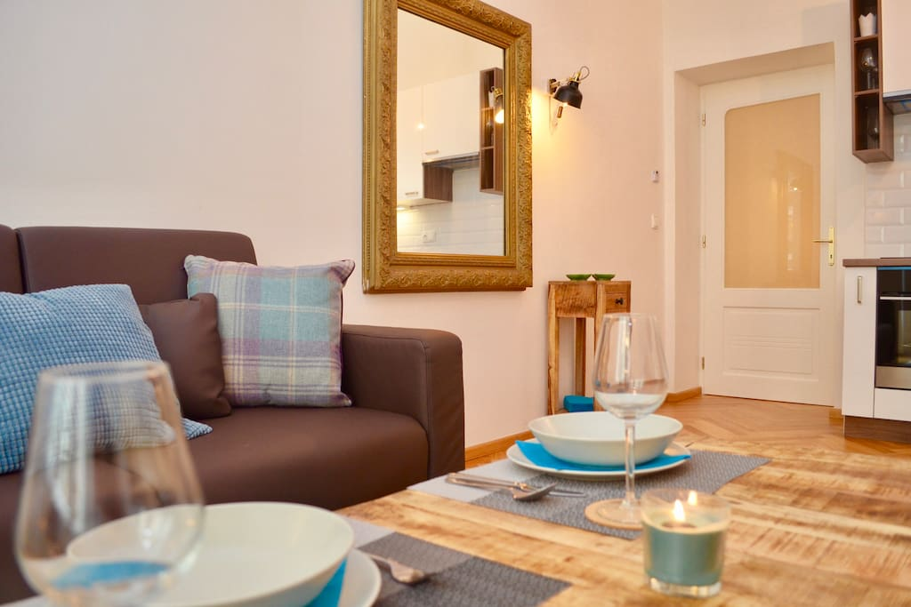Nicely furnished apartment in one of the best locations in Prague is ideal for up to 4 people.