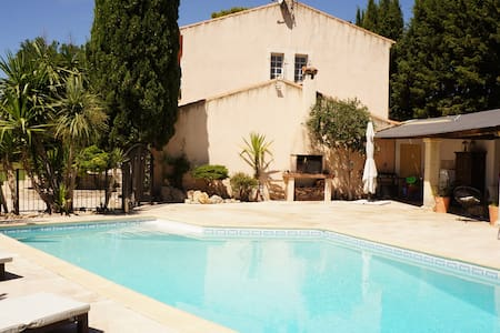 House with salt water pool 20km from the beach - Baillargues