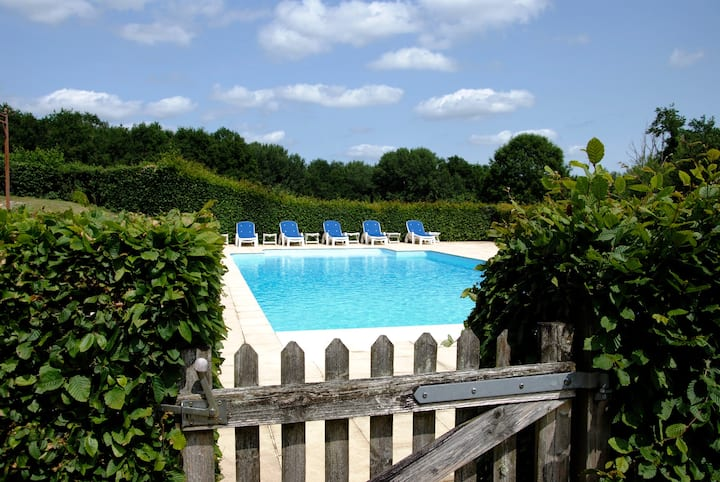 Charming house**** with a large swimming pool