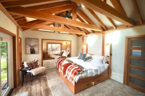 Luxury loft style lake house on private beach