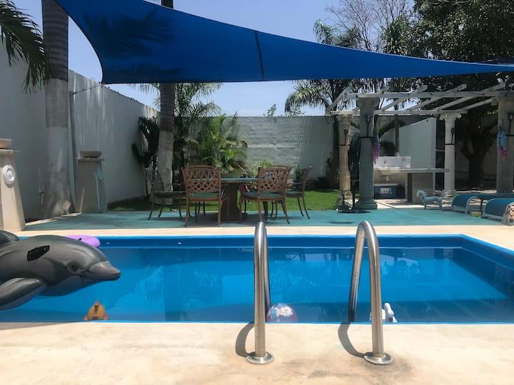 Casa de descanso con piscina y jacuzzi, Sanitizada
