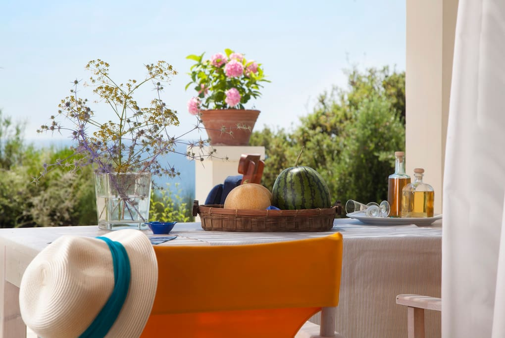 front terrace with panoramic view of the Ionian Seaview