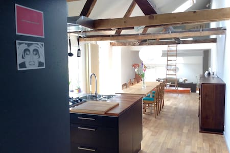 Characterful loft in the historical city center - Gand